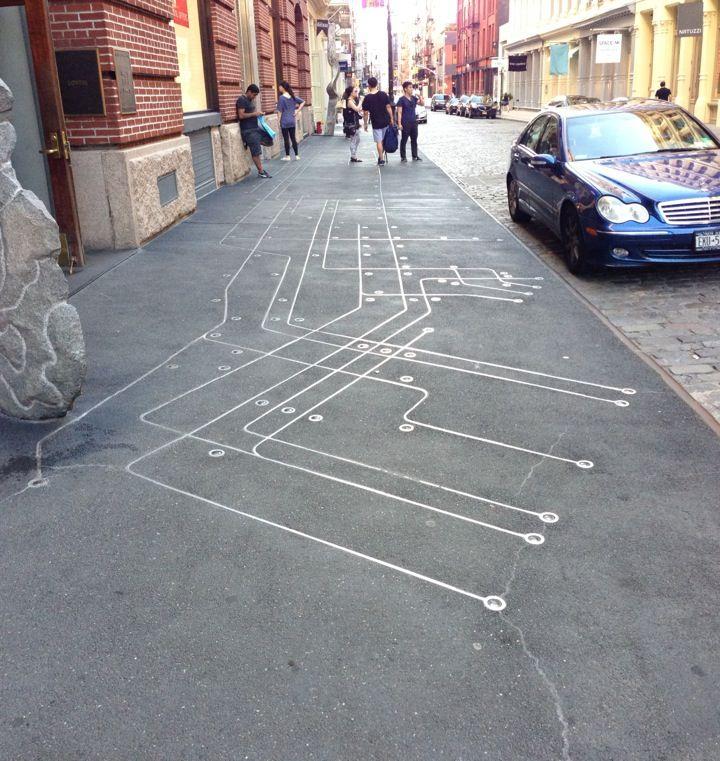 Floating Subway Map.Subway Map Floating On A New York Sidewalk Nyc Subway Map