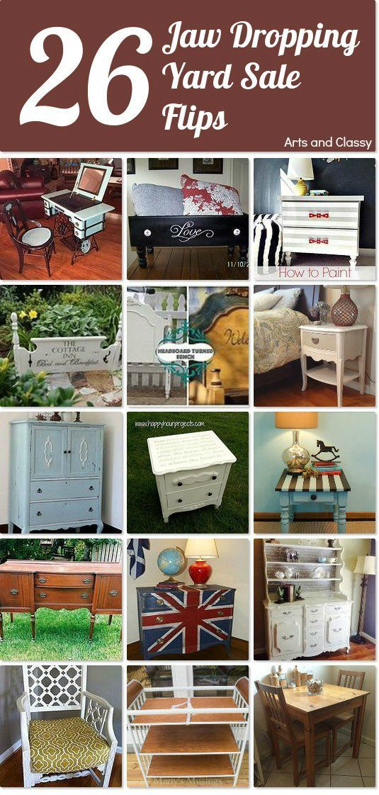 26 Yard Sale Furniture Flips That Will Make You Flip Yard Sale Flipping And Yards