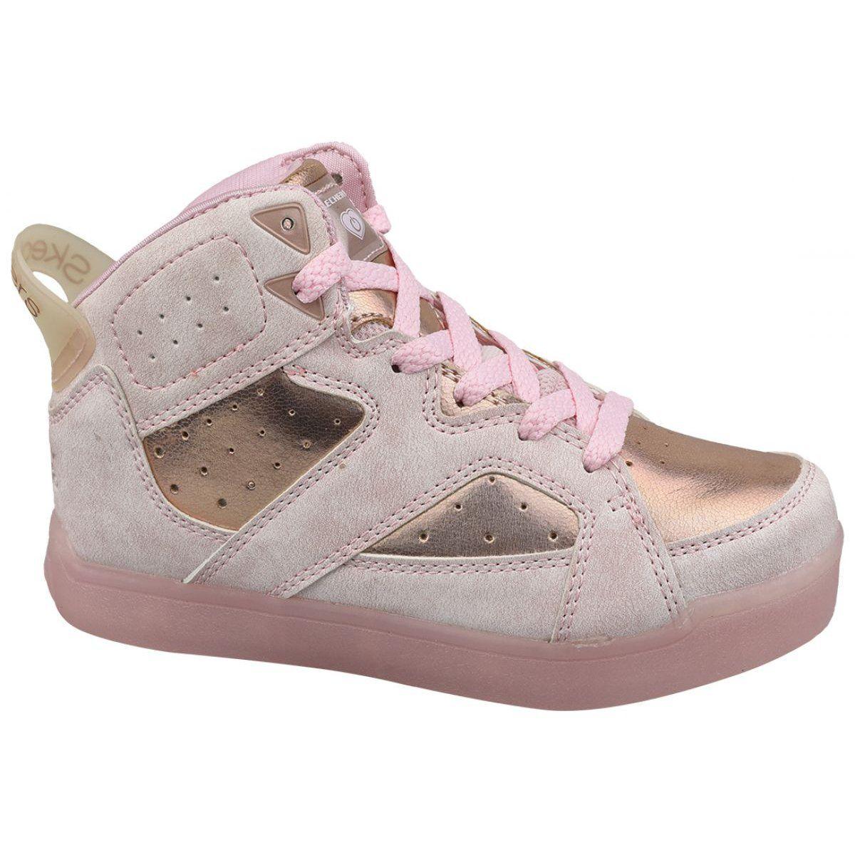 Buty Skechers E Pro Ii Lavish Lights Jr 20061l Ltpk Rozowe Skechers Top Sneakers Wedge Sneaker