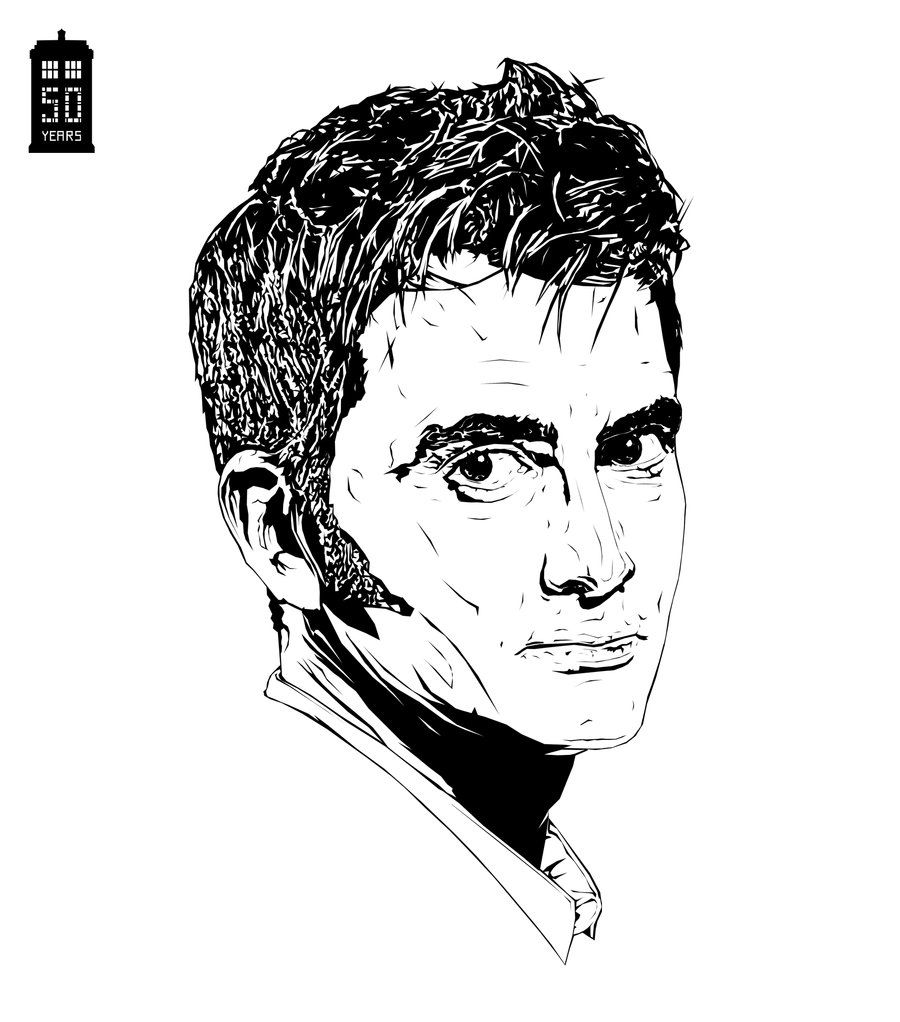 Doctor Who David Tennant Coloring Pages | Fun Crafts | Pinterest