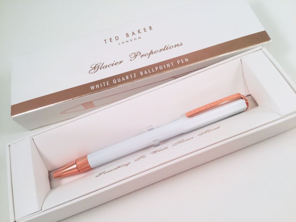 Details About New Ted Baker Pink Quartz Ballpoint Pen Rose Gold