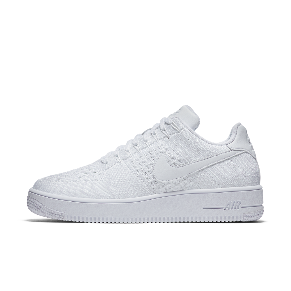 497818fe5355 Nike Air Force 1 Flyknit Low Men s Shoe Size 11.5 (White) - Clearance Sale