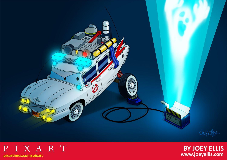 pixar meets ghostbusters cars 2 countdown pixart by joey ellis rh pinterest com