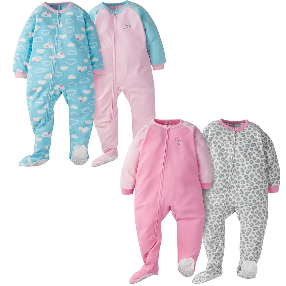 Get your little girl well-prepared for a day filled with fun times with  this 4-pack of toddler girls  blanket sleepers! She ll rest comfortably  through the ... 959ca6e15