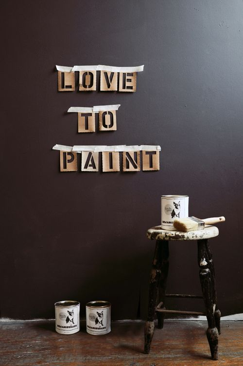 Konfetti | my design harvest. Love to paint. Chalkboard Wall. Black painting. Creative