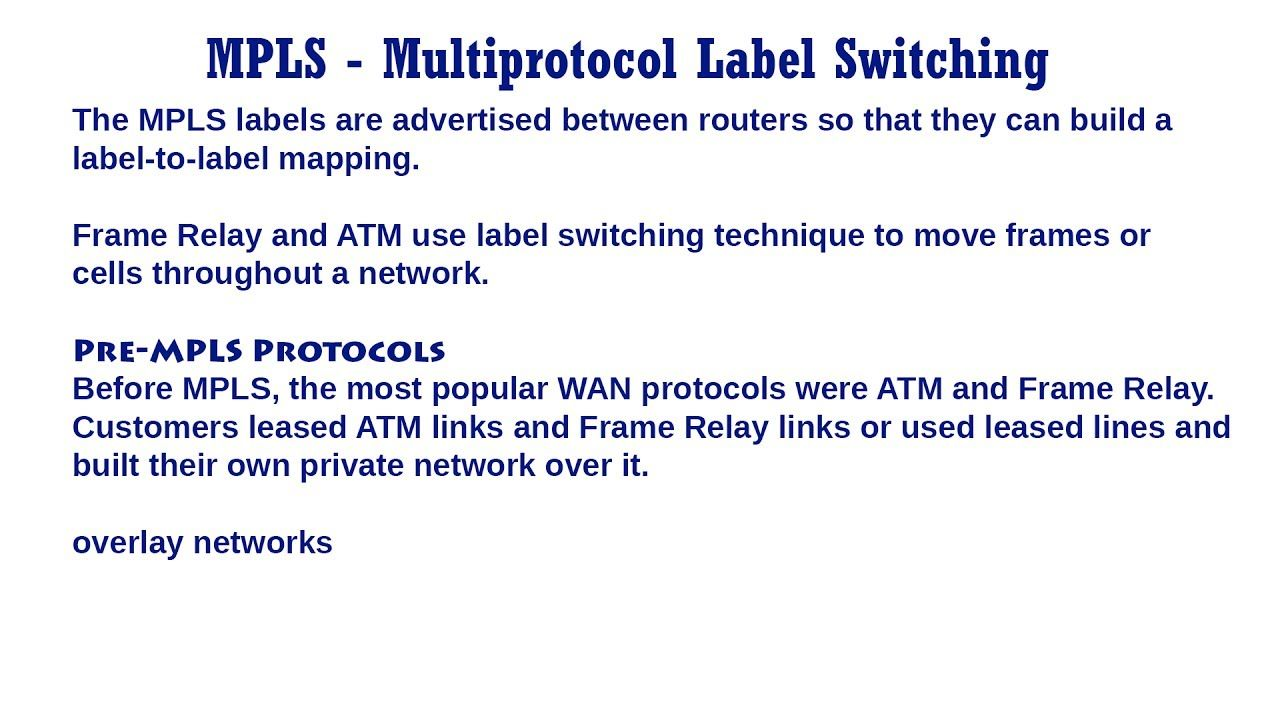 MPLS - Multiprotocol Label Switching | TCP/IP Protocols - Network ...