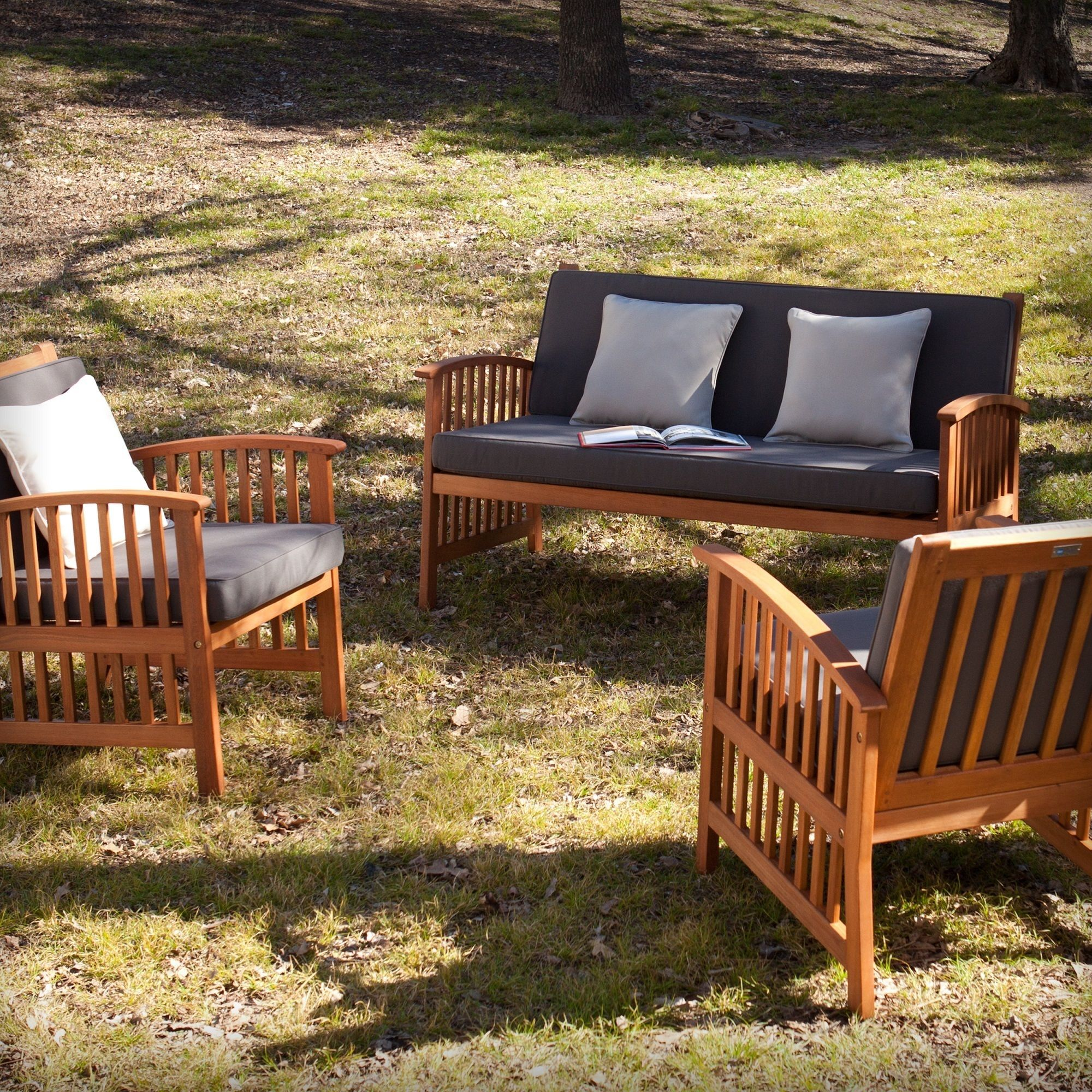 Harper Blvd Charlotte Outdoor 3pc Deep Seating Set Os4266do Brown Size 3 Piece Sets Patio Furniture Fabric
