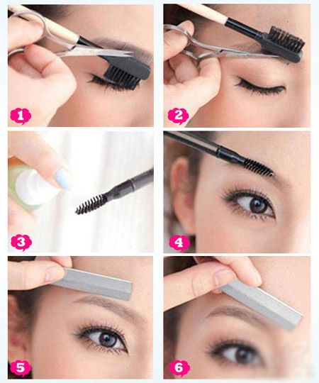 Brilliant 5 Comb Women Makeup Groom Hair Trim Tool Eyebrow Beauty Shear Scissor Eyelash Girl Lady Eye Brow Trimmer Cosmetic Scissors Office & School Supplies