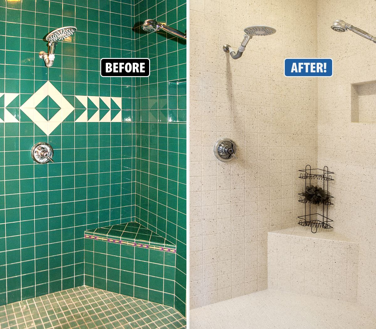 Update Your Ceramic Tile Without Replacement With Refinishing By Miracle Method Bathroom Wall Coverings Alternative To Bathroom Tiles Bathroom Tile Inspiration