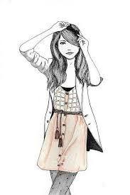 Resultado de imagen de cute drawing of a girl with camera