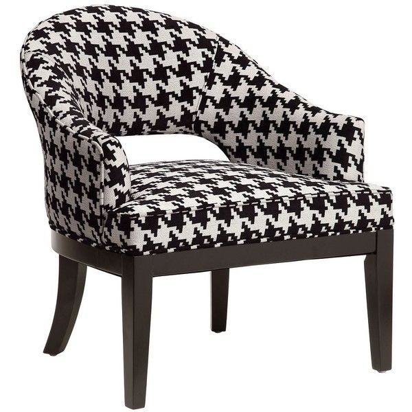 Crystal Keltic Oreo Houndstooth Upholstered Armchair Found On