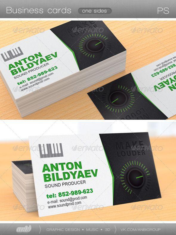 Sound Producer Print Templates Printable Business Cards Free Business Card Templates