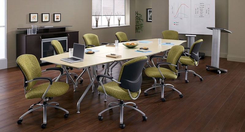 Global - Bungee:  Bungee Tables can easily be configured to meet the needs of any function, group or purpose and is available at Total Office Interiors