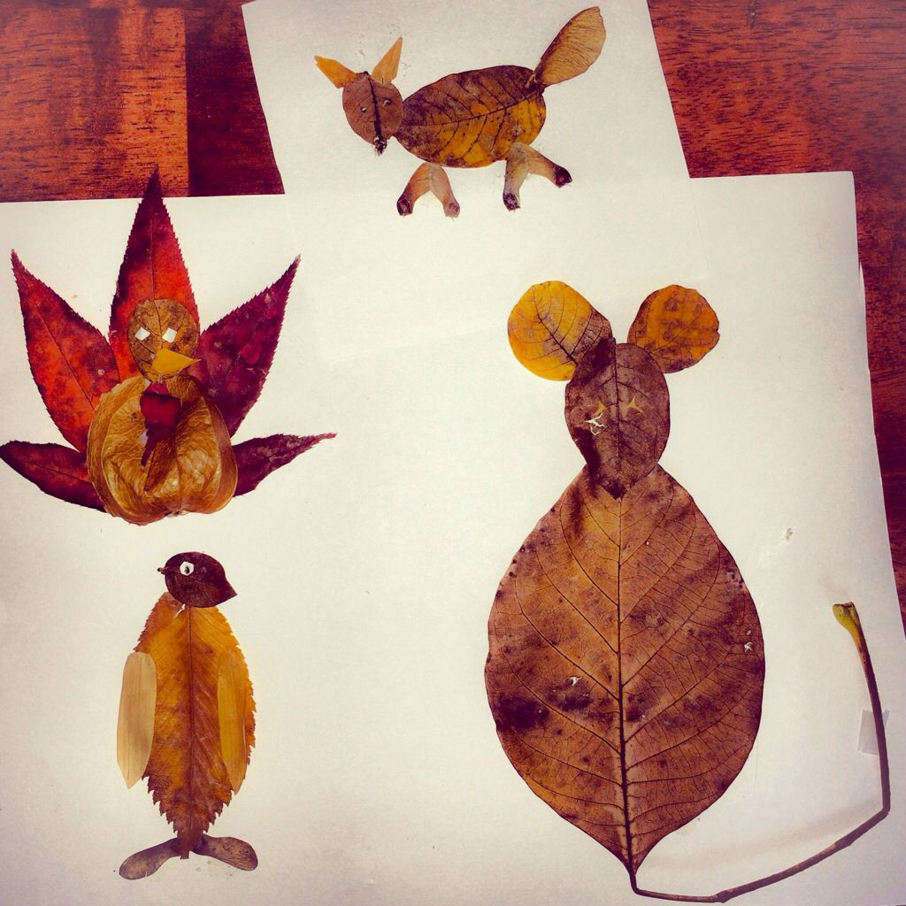 leaf animals craft | Leaf Animals Found on Pinterest