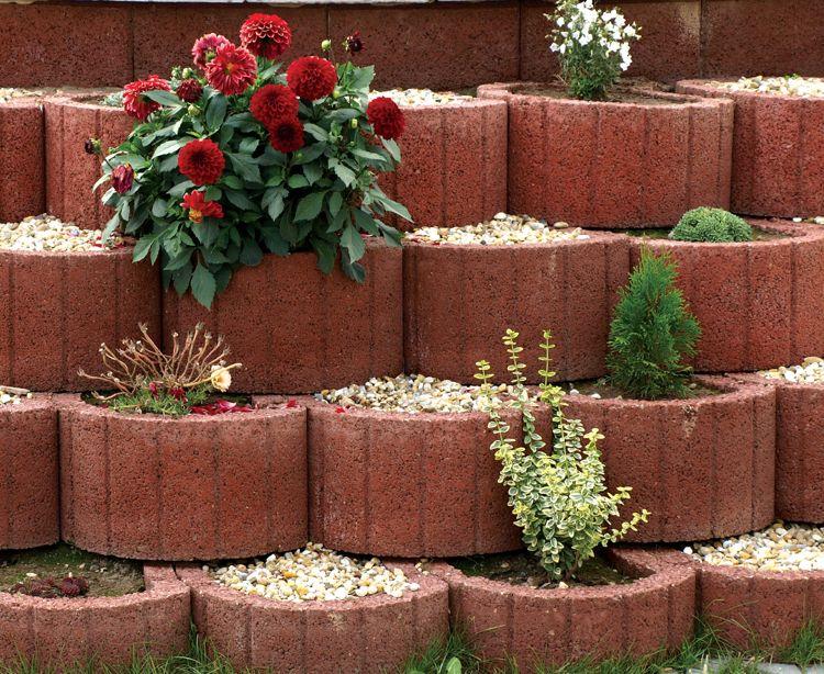 Pflanzringe Abwechslungsreich Bepflanzen Rote Chrysanthemen Concrete Planters Plants Small City Garden