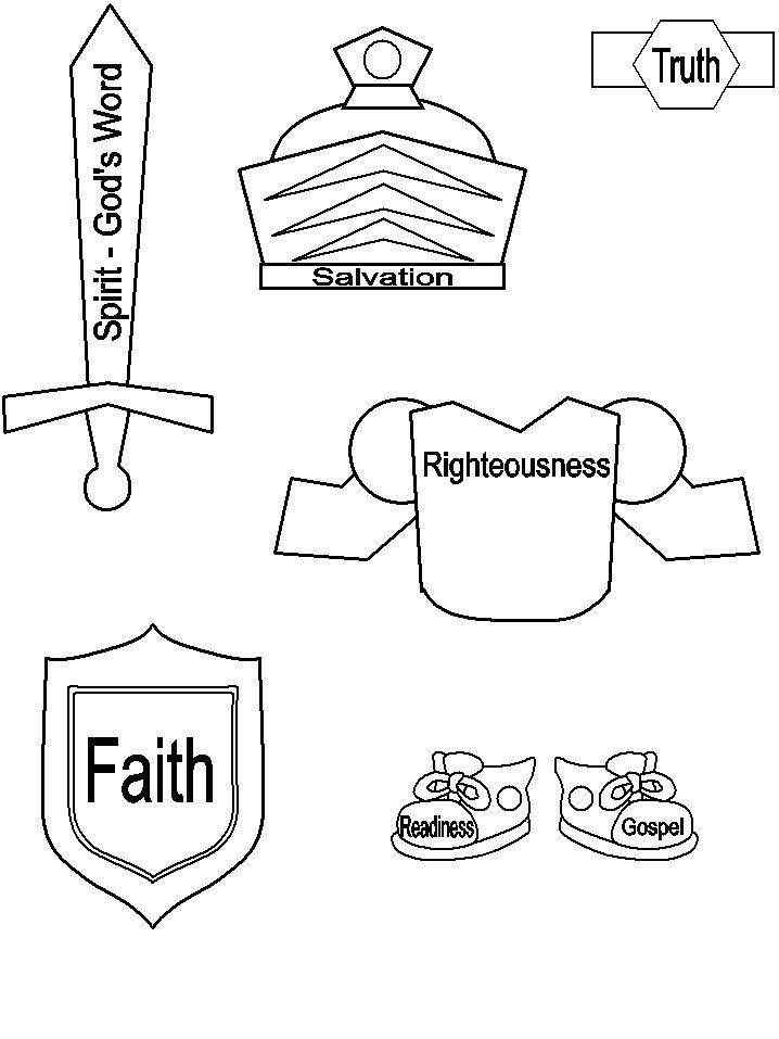 Armor Of God Coloring Pages Preschool Bible Armor Of God Bible