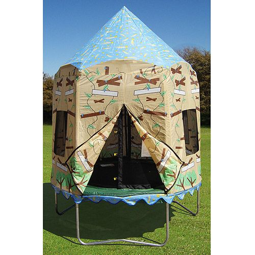 """$250 JumpPod Elite 7.5"""" Round Trampoline And Protective"""