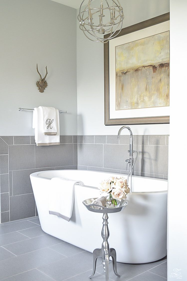 A Transitional Master Bathroom Tour | Master bathrooms, Bath and Tubs