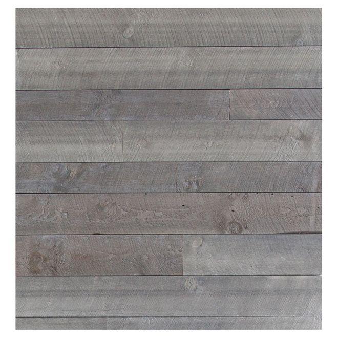 rev tement mural style bois de grange gris mat riaux bruts pinterest parement mural. Black Bedroom Furniture Sets. Home Design Ideas