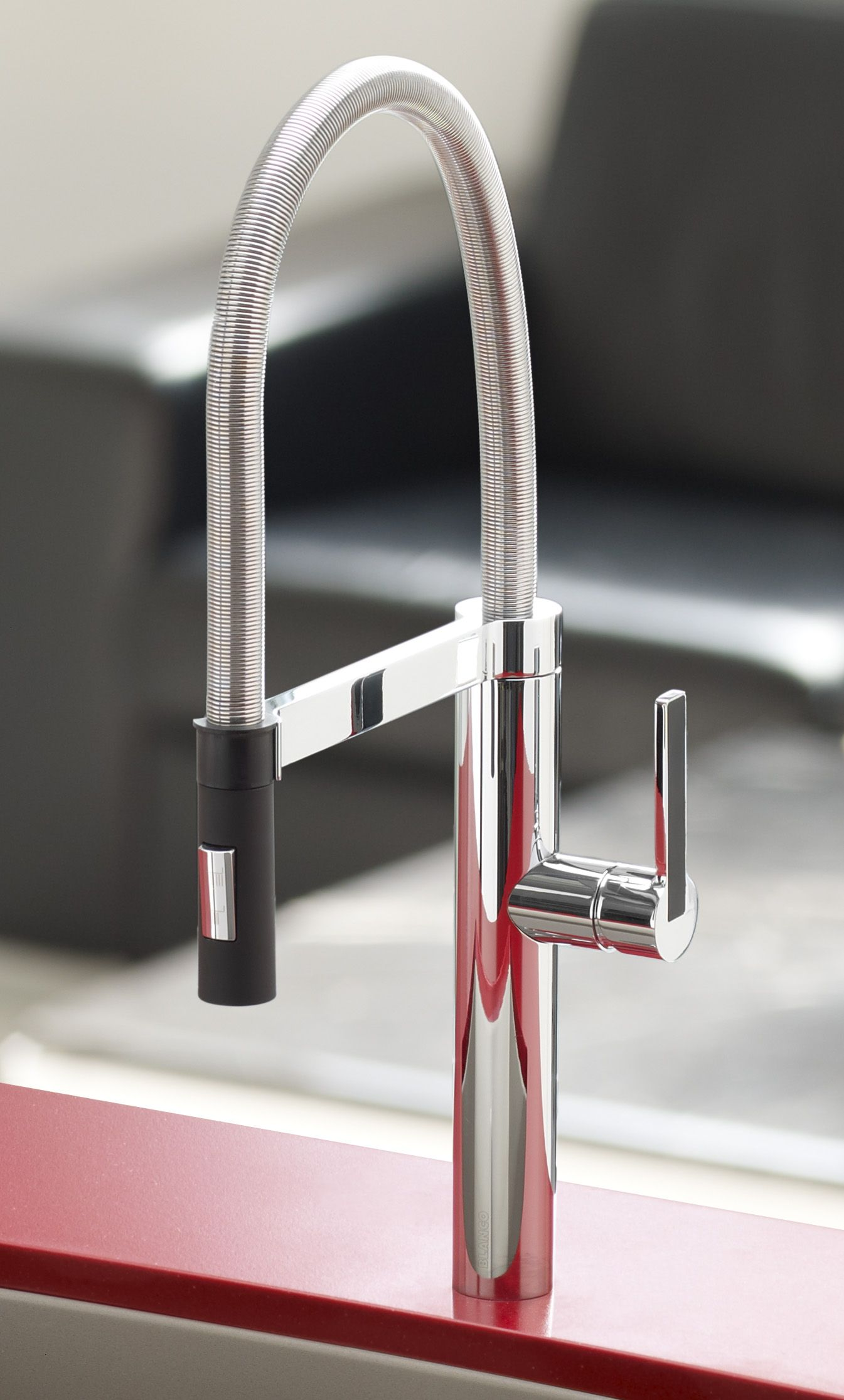 Küchendesign marmor blanco culina faucet winner of the red dot and if international