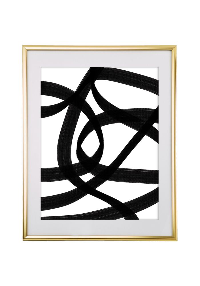 Free Printable Abstract Black Art from @chicfetti - easy