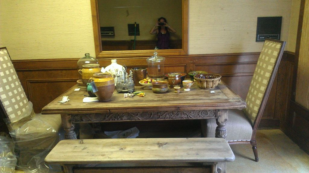 Who would  have thought this table could go on to have such nice things in the future no one had Any idea what was In store for this table
