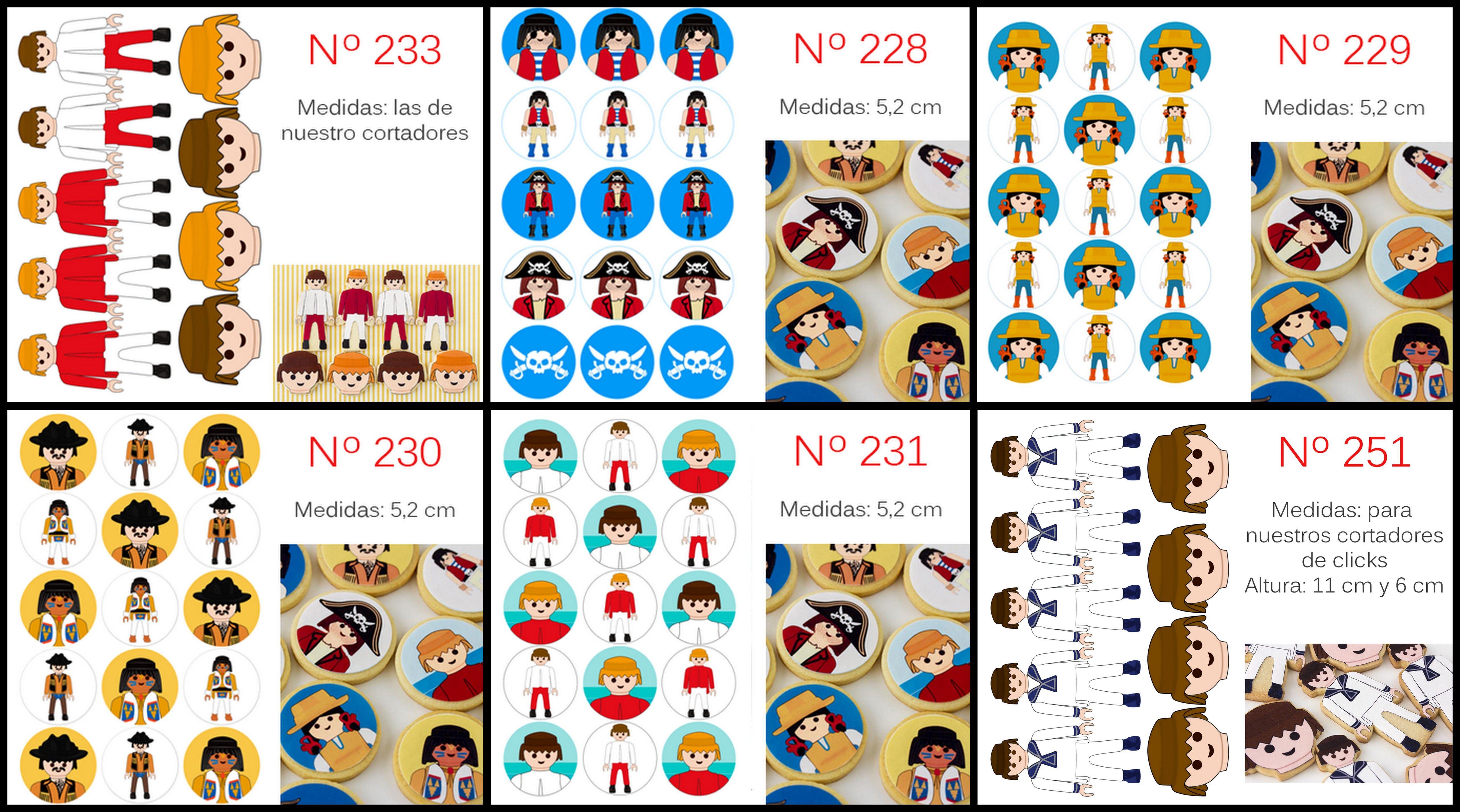 Papel De Azucar Para Galletas Playmobil Postreadiccion Fiesta