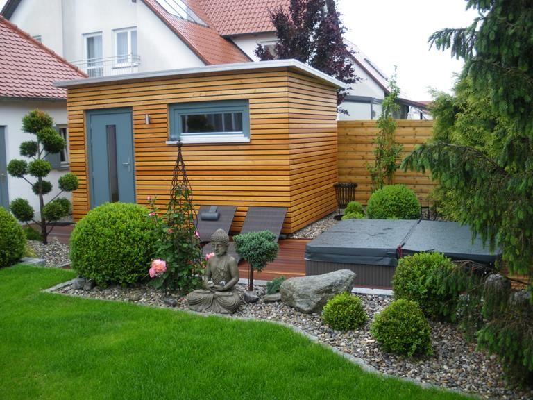Moderne Saunakabinen Fur Zu Hause Aussensauna Von Ruku Backyard