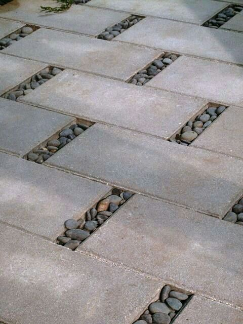 Pavers With River Rock · Patio IdeasPaved ...