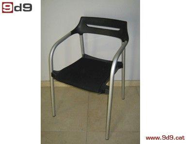 Conjunto de DOS sillas oficina de segunda mano, con asiento tapizado ...