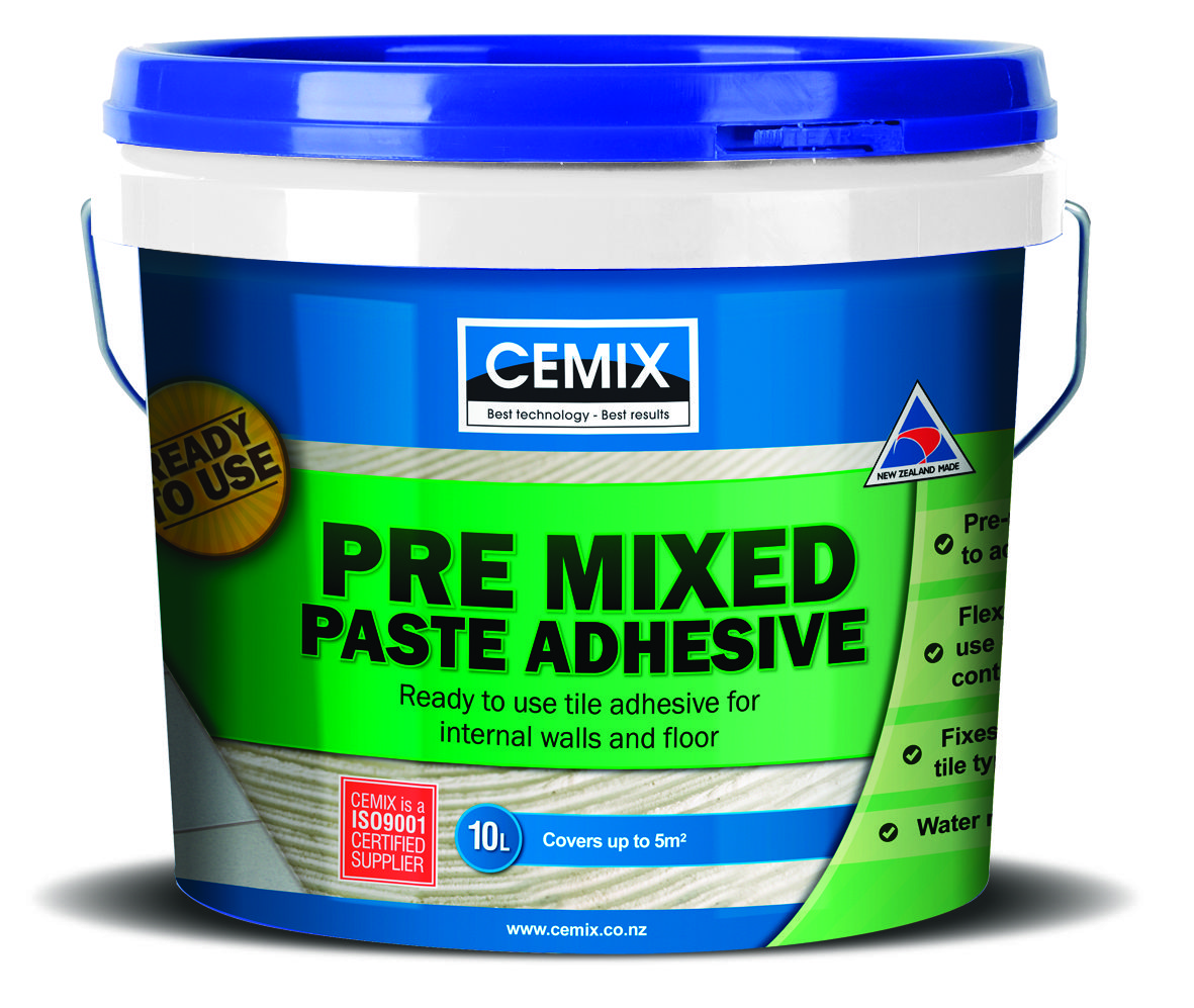 Cemix pre mixed paste adhesive is a diy friendly premixed
