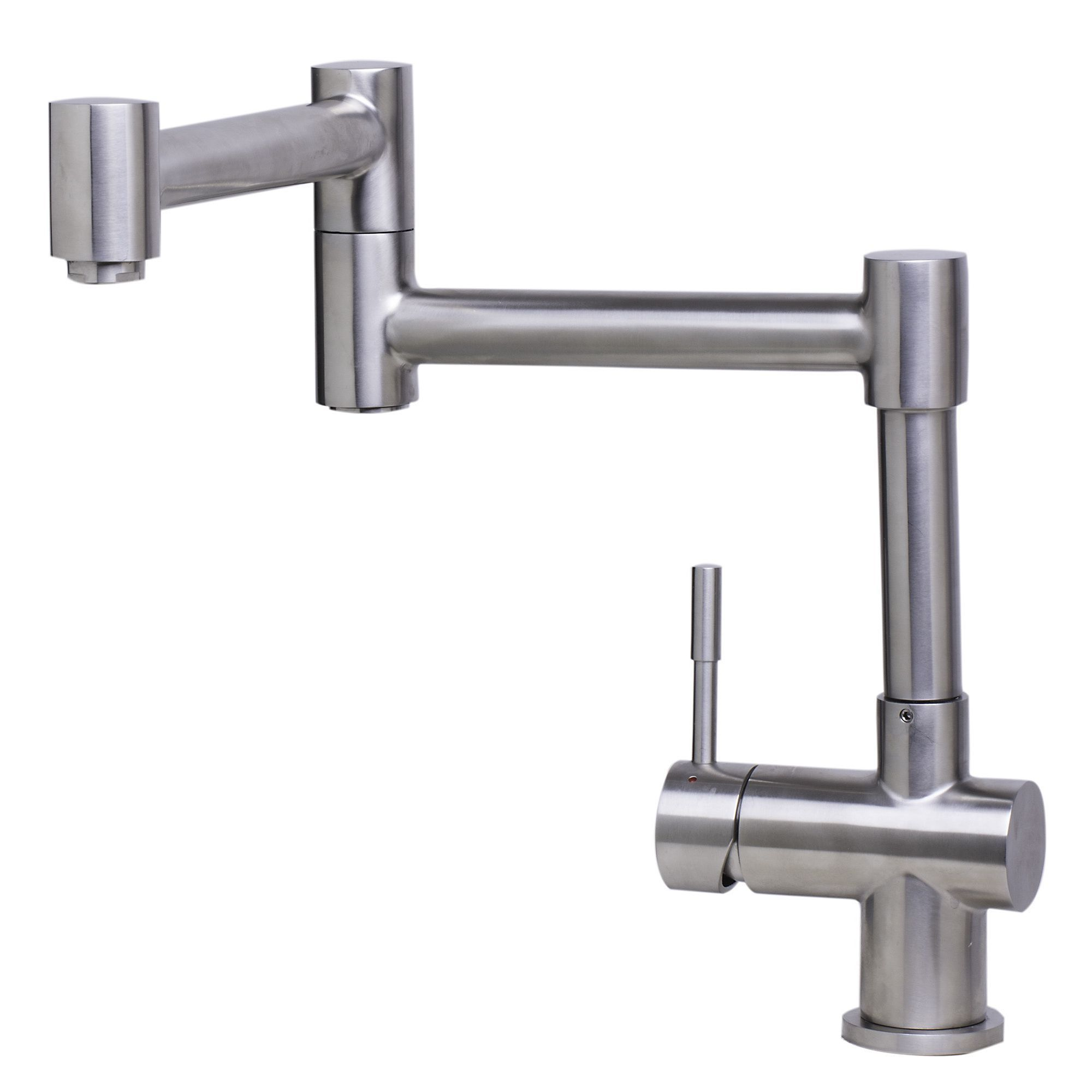 Alfi AB2038-BSS Brushed Retractable Single Hole Kitchen Faucet ...