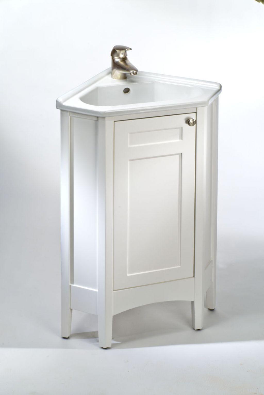 Bathroom: White Corner Bathroom Vanity With Thomasville ...