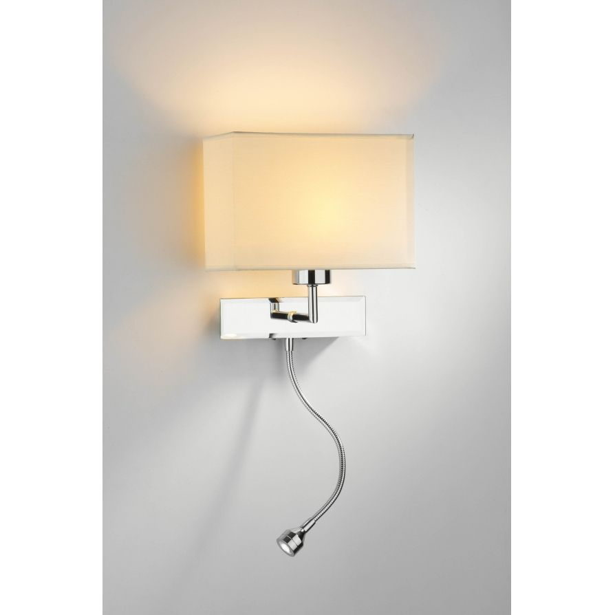 Dar ama0750 amalfi 2 light modern led reading wall light flexi head dar ama0750 amalfi 2 light modern led reading wall light flexi head polished chrome audiocablefo