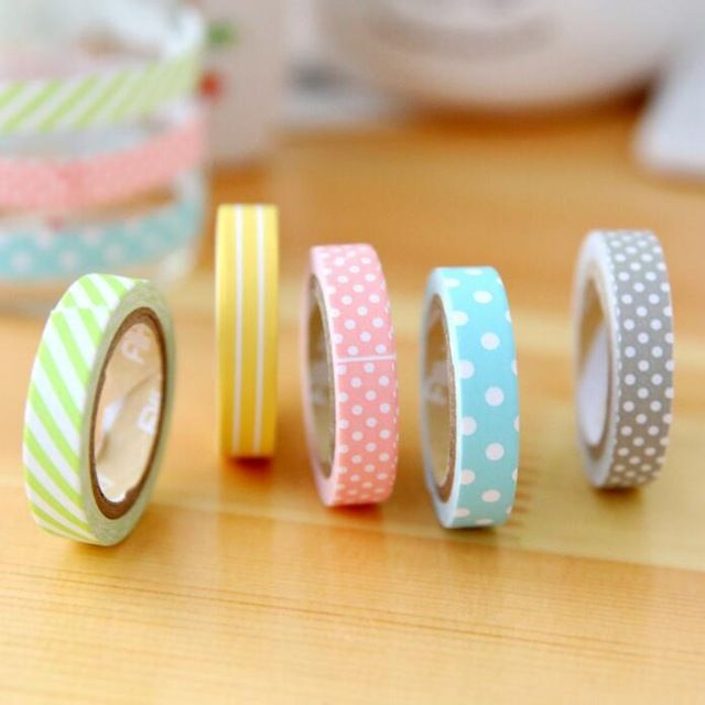 5 Unids Pack Candy Color Arco Iris Washi Cintas Adhesivo Cintas