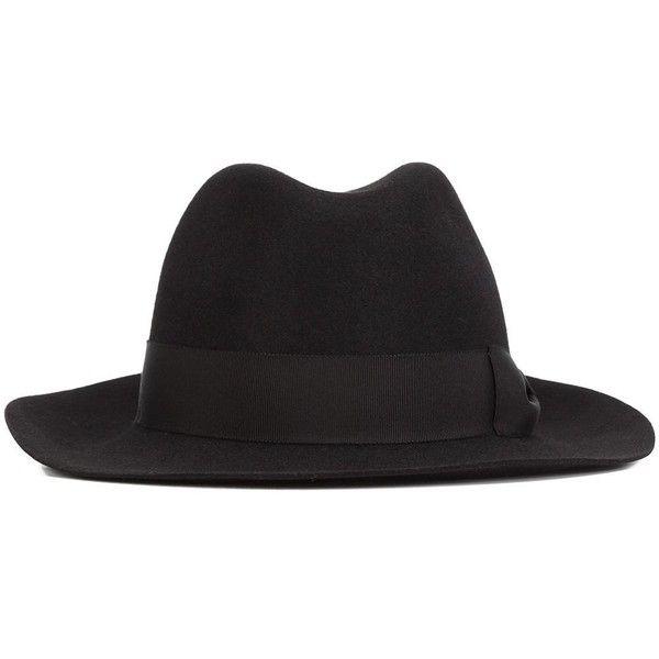 0e7ea3dee44 Yohji Yamamoto fedora hat (€605) ❤ liked on Polyvore featuring accessories