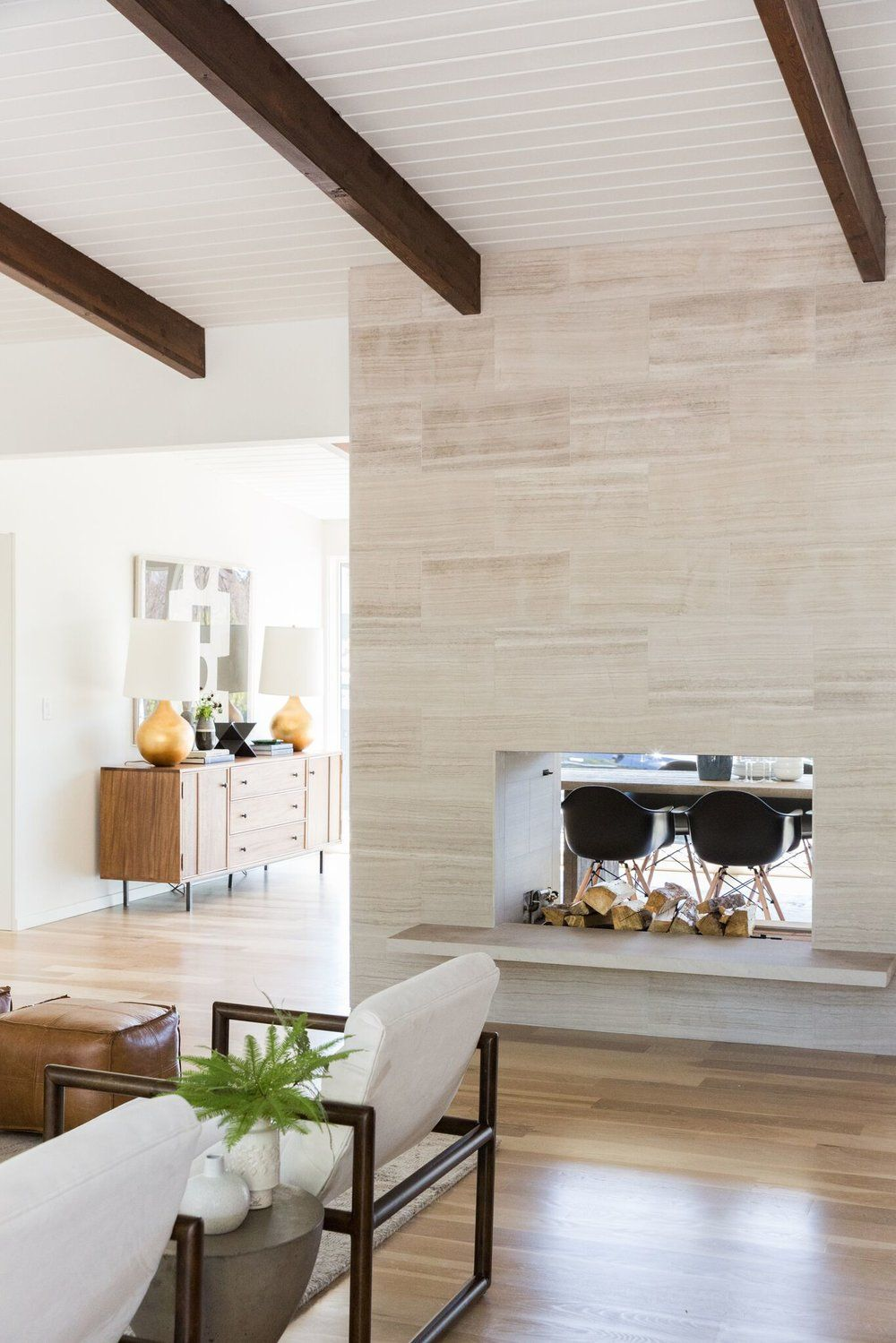 Mid-Century Modern Project | Stone fireplaces, Mid century modern ...