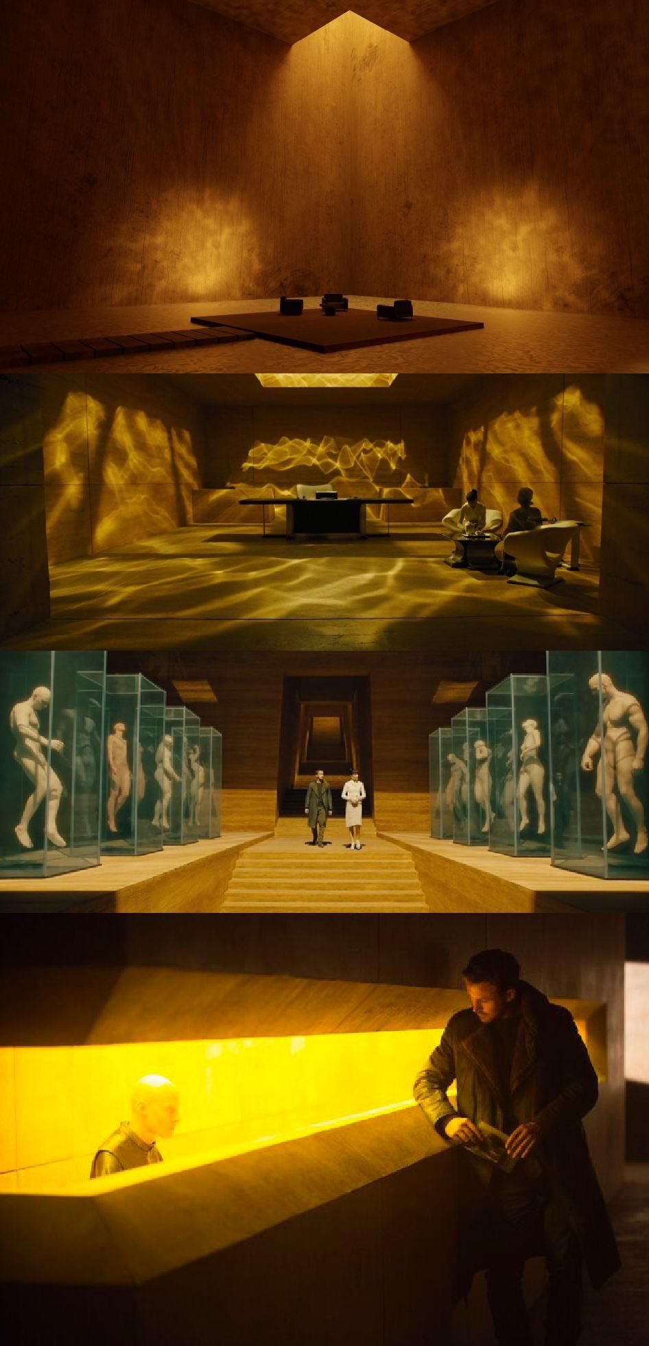 In Blade Runner 2049 2017 Niander Wallace S Headquarters Are Made Of Wood A Rare And Very Expensive Material In 2049 T In 2020 Blade Runner Color In Film Movie Shots