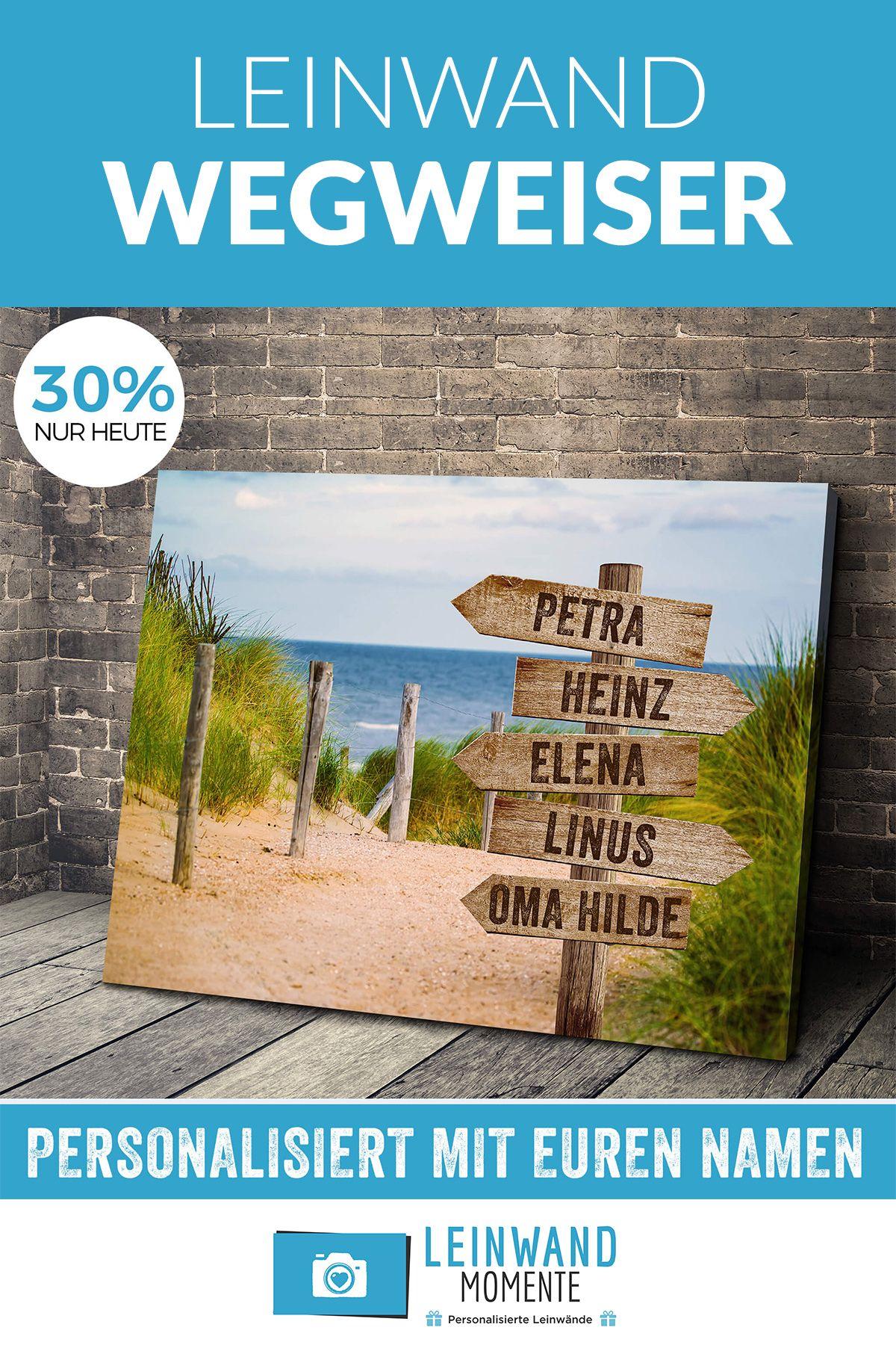 personalisierte leinwand wegweiser waldbilder bilder foto auf 150x100 120x40