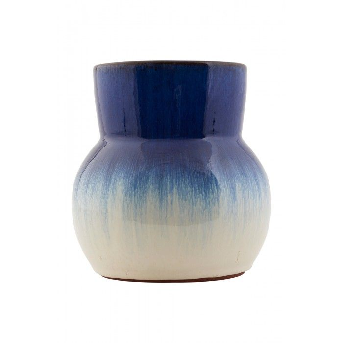 Flower Vase In Blue And White By House Doctor Dk