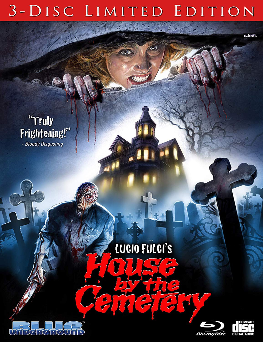 Lucio Fulci S The House By The Cemetery Blu Ray Blunderground Dvdbeaver On Patreon Horror Movie Posters Horror Horror Movies