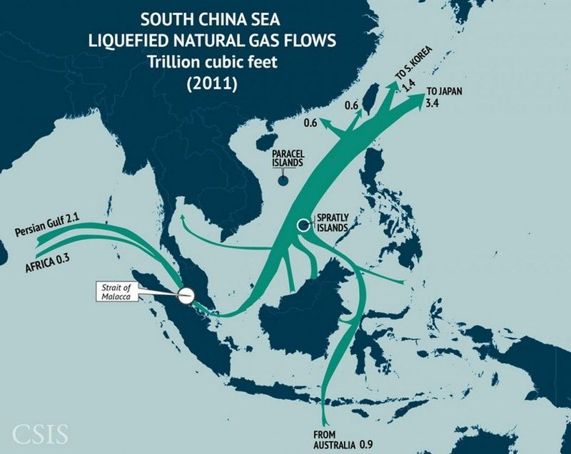 Lng flows one of the many reasons why the south china sea is widely lng flows one of the many reasons why the south china sea is widely considered gumiabroncs Gallery
