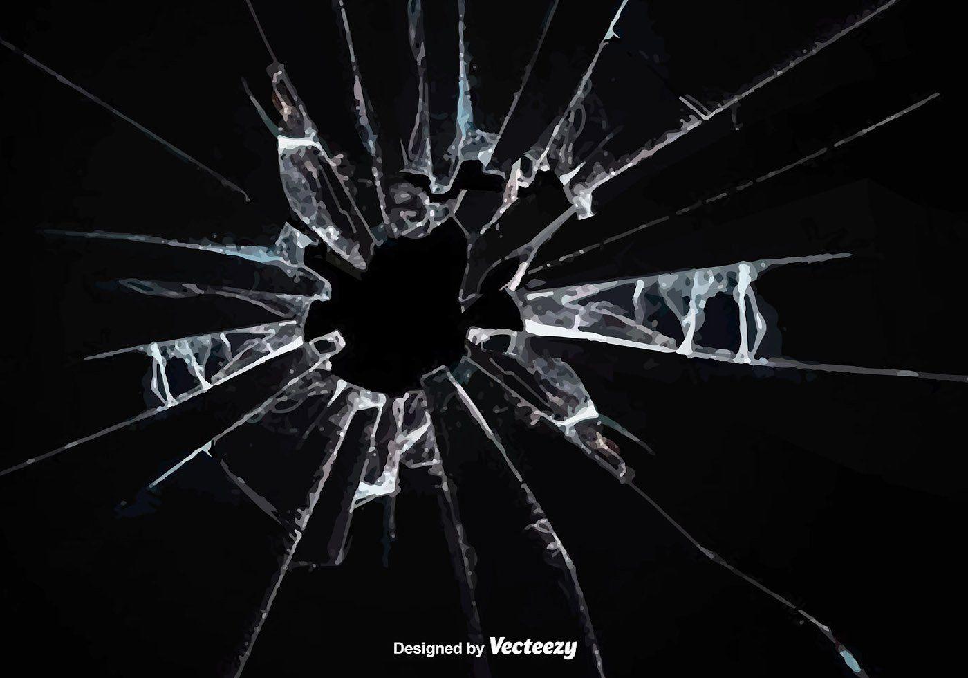 Vector Broken Glass Effect Broken Glass Vector Art Sky Gif