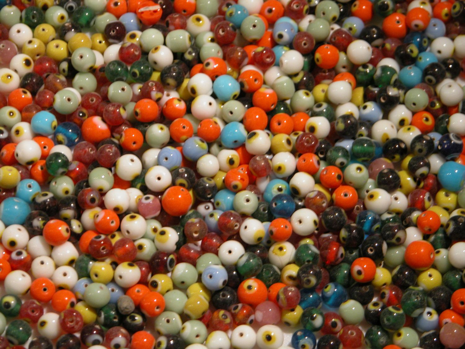 20 Evil Eye Bead Mixed Colors by SatuitTradingCo on Etsy, $2.99
