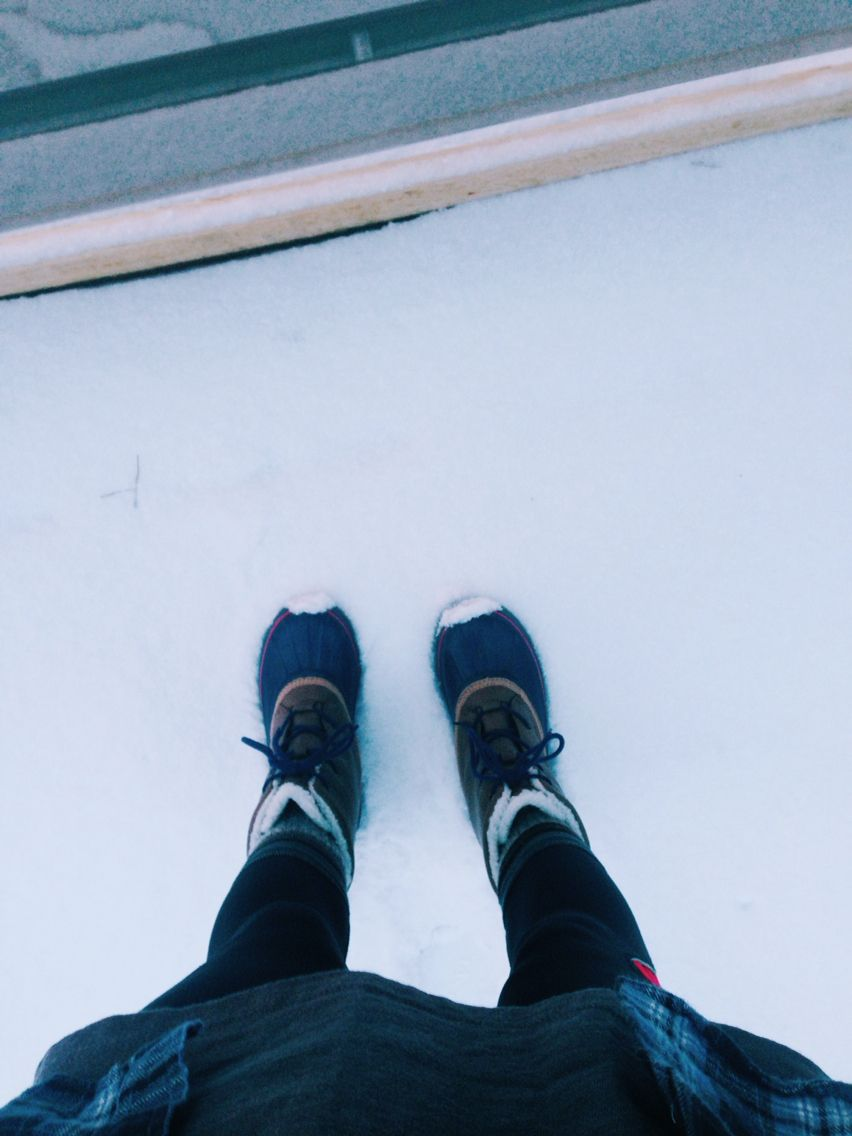 Weather Boots on snowy days!