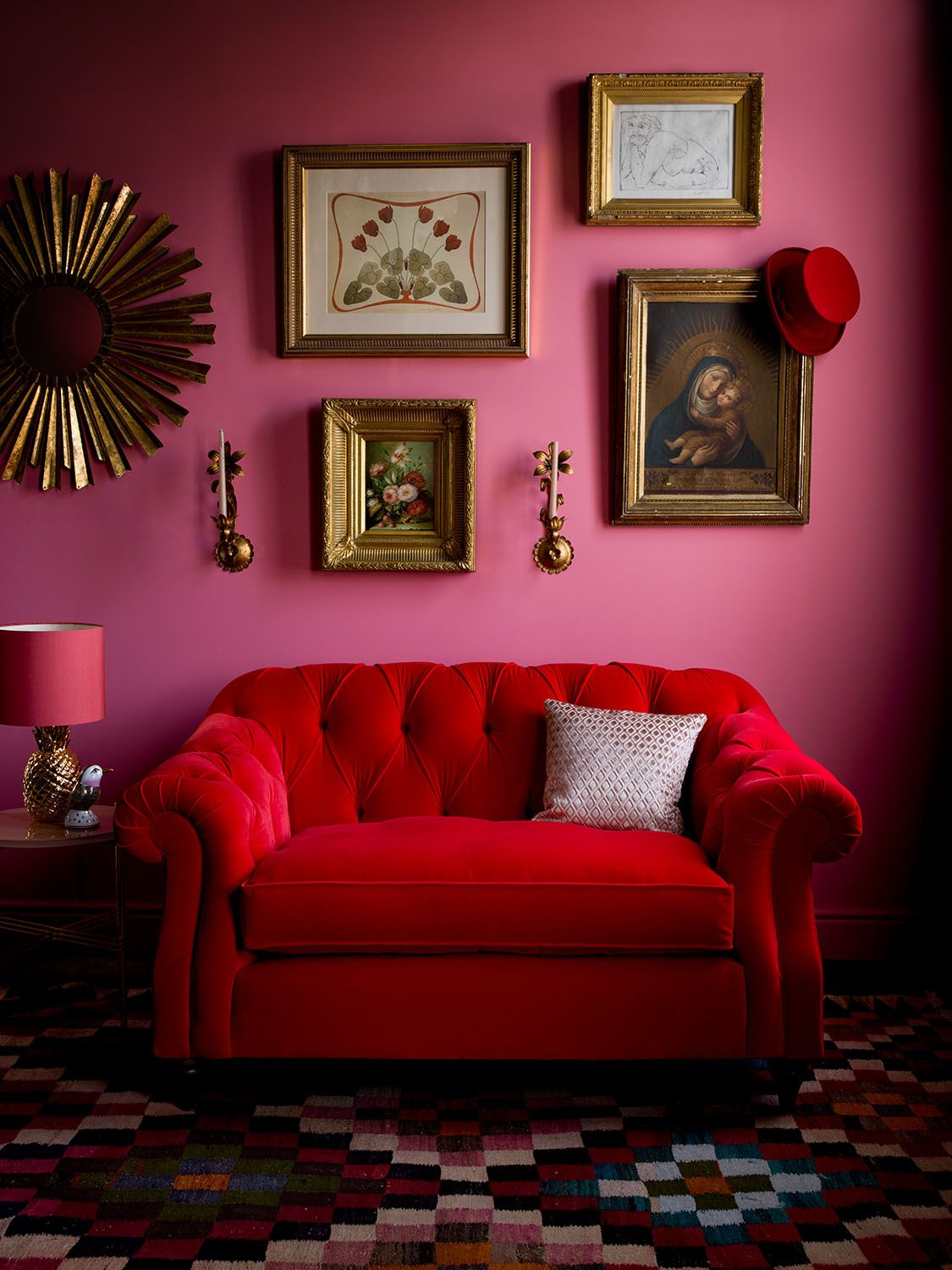 Red + Pink   Art On Walls   Colour   Lounge. Wonderful Sofa And All That  Colour.