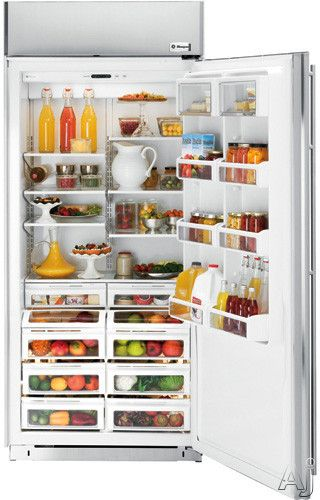 Ge Monogram Zir360nxlh 36 Built In All Refrigerator With Spillproof Glass Shelves Humidity Produce Pans Dairy Co All Refrigerator Glass Shelves Refrigerator