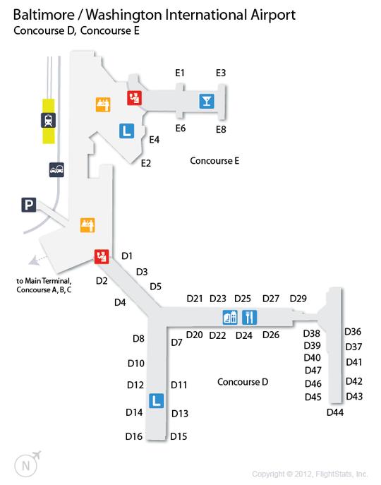 Baltimore washington international airport map