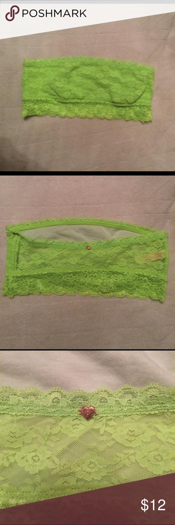 Pink Victoria's Secret bandeau. Like new Pink VS bright lime green bandeau. Intimates & Sleepwear Bandeaus