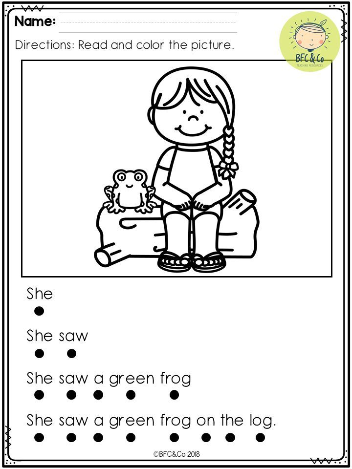 Kindergarten Read And Write Freebie Tpt Misc Lessons Pinterest